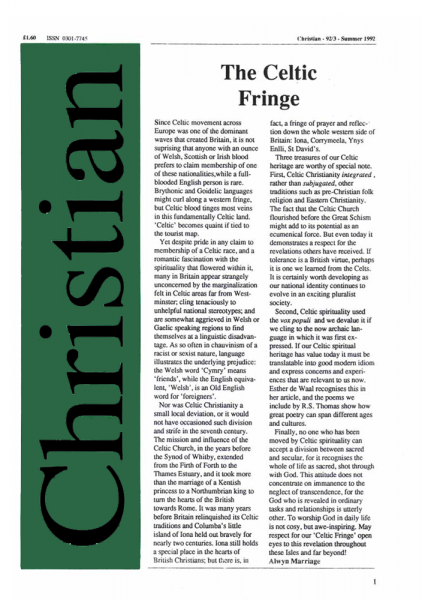 Christian Journal – 1992/3 – The Celtic Fringe