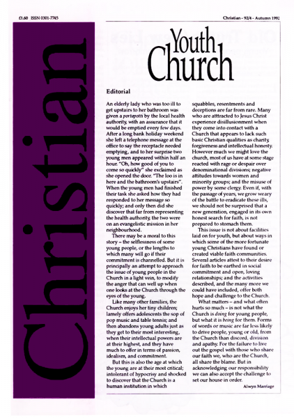 Christian Journal – 1992/4 – Youth Church