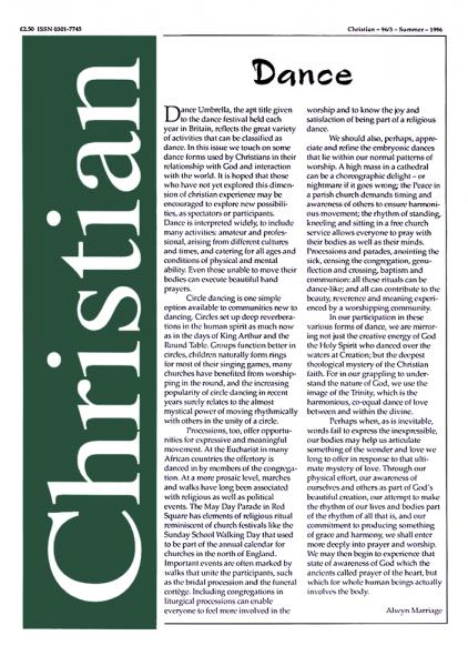 Christian Journal – 1996/3 – Dance