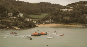 Passing SS lifeboat house